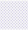 watercolor seamless pattern purple hearts vector image