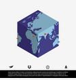 worldmap and cube vector image