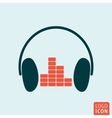Headphones equalizer icon vector image