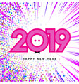 2019 happy new year numbers for calendar design vector image vector image