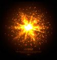 3d illuminated abstract explosion glowing vector image