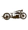 a vintage motorcycle side vector image