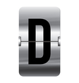 Alphabet silver flipboard letters d vector image vector image