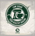 alternative low sugar stamp vector image
