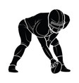 american football players silhouette vector image vector image