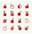 Apple logo templates set Elements for design vector image