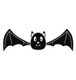bat icon simple style vector image