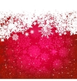 Beautiful red happy Christmas card EPS 8 vector image vector image