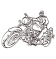 Biker on the freedom trip An hand drawn vector image vector image