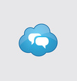 Blue cloud Conversation icon vector image