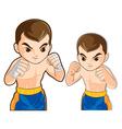boxing guard action vector image