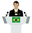 Brazil speaker tribune vector image