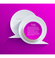 bubble speech background Eps10 vector image vector image