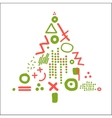 card with abstract christmas tree vector image