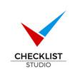 checklist logo vector image vector image