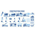 construction building work icons vector image vector image