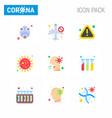 corona virus 2019 and 2020 epidemic 9 flat color vector image vector image