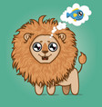cute hungry lion cartoon animal vector image vector image