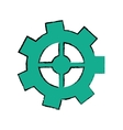 drawing gear wheel engine cog icon vector image