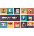 employment - set of flat design infographics vector image vector image