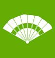 fan icon green vector image vector image