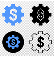 financial settings eps icon with contour vector image vector image