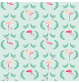 Flamingo Bird Background - Retro seamless pattern vector image vector image
