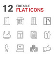 front icons vector image vector image