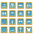 golf icons set sapphirine square vector image vector image