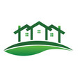 green houses real estate community logo vector image vector image