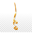holiday gold serpentine icon realistic style vector image