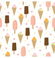 icecream seamless background vector image
