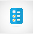 icon of cool check list vector image