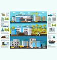 industrial factory brochure vector image vector image