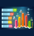 infographic business concept vector image vector image