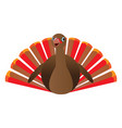 isolated turkey icon vector image vector image