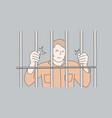 jail prisoner crime concept vector image