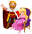King and queen on the chair vector image vector image
