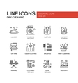 Laundry - line design icons set vector image vector image