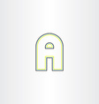 line icon letter a vector image