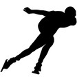 male athlete speed skating turn ice arena vector image vector image