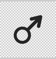 male gender symbol icon on transparent background vector image vector image