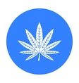 Marijuana leaf icon in black style isolated on vector image vector image