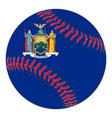 new york flag baseball vector image vector image