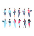 office people set businessman characters vector image