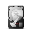 opened hard drive disk isolated on the white vector image
