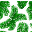 palm leafs seamless pattern vector image vector image