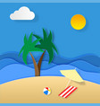 paper art of summer holidays of holiday on the vector image