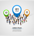 people crowd with option numbers vector image