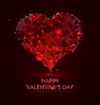 red heart abstract happy day valentines vector image